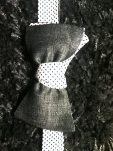 detail du noeud paillon deux tissus